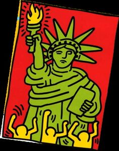 Keith Haring, Statue of Liberty, Auktion 876 Zeitgenössische Kunst, Lot 180 Norman Rockwell, Art Pop, Pop Art Prints, Keith Haring Art, Keith Haring Poster, Keith Haring Prints, Street Art, Tv Movie, School Of Visual Arts