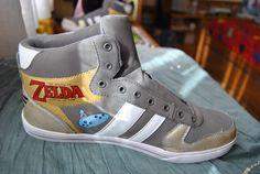 The Legend of Zelda custom shoes from Sifaka   #DIY