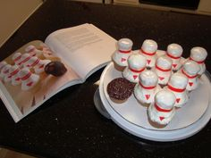 "Bowling pin cupcakes from ""Hello, Cupcake"""