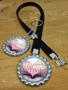 Folded Key ring & 6mm Ribbon bookmark set, made for Blog giveaway
