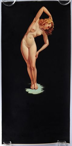 Erotic Mexican Poster Sized Art Deco Nude Streamlined Pin-Up Calendar Ritmo Rare