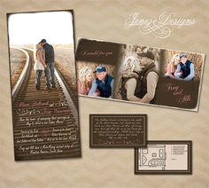 Unique and fun Photo Wedding Invitation Set by Jeneze on Etsy, $35.00