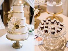 Vintage Las Vegas | Weddings in Woodinville | Columbia Winery | MG Davis Events | Jennifer Tai Photo Artistry | The Cakewalk Shop #weddingsinwoodinville #wiw16 #vintagewedding #goldwedding #winerywedding #tieredcake #goldcake #sugarflowers