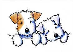 Art: KiniArt Sealyham Terriers by Artist KiniArt #DogDrawing