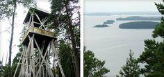 Toinen toistaan hulppeampia näkymiä - Päijätsalon näkötorni, Sysmä Finland