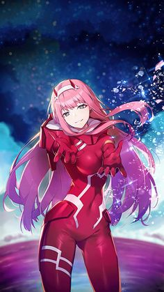 Zero Two (Darling in the FranXX) Image - Zerochan Anime Image Board Girls Anime, Anime Girl Cute, Kawaii Anime Girl, Anime Art Girl, Anime Love, Manga Art, Anime Sexy, Cute Anime Character, Character Art
