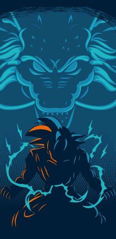 Goku and Shenron Dragonball Anime, Dragonball Super, Anime Echii, Anime Comics, Anime Art, Dragon Ball Z, 7 Arts, Manga Dragon, Animes Wallpapers