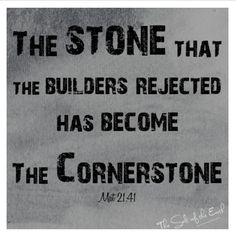 Jesus; the Chief Cornerstone or a Stone of stumbling? Read post on  www.the-saltoftheearth.com
