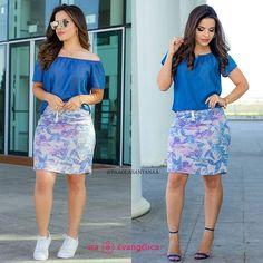 {Look Hapuk para @viaevangelica} Duas opções de como Usar um Cropped Jeans e Saia. ▫Um Look Casual e um Arrumadinho, gostaram?! ✅@viaevangelica ✅@viaevangelica www.viaevangelica.com.br
