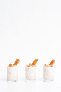 Homemade churro mini milkshakes