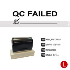 QC FAILED, Pre-Inked Office Stamp, 761706-F