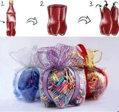 Manualidad infantil con botella reciclada