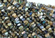1 STRAND PAUA NUGGET BEADS 8 X 4 MM - 16 INCHES  OPAL BEAD FROM PERU, GEMSTONE BEAD, GEMSTONE BEAD, FROM GEMROCKAUCTIONS