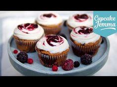 Gluten Free Summer Fruit Cupcake Recipe | Cupcake Jemma - YouTube