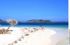 Ultra-white sand beach at Pass Island, Busuanga, Palawan     #beach