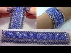 Iceflower bracelet with Swarovski rivoli part 1 Beading Tutorial by HoneyBeads1 (Photo tutorial) - YouTube