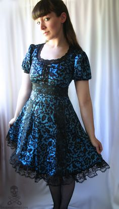 Dark Alice in Wonderland gothic lolita lace dress from Smarmy Clothes
