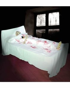 skeleton death bed halloween - Fright Catalog Halloween Decorations