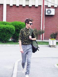 Zara camo shirt