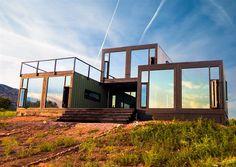 Um refúgio em container no Colorado