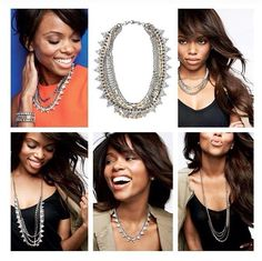 """Our most versatile necklace yet! Five (count 'em) ways to wear it: Long and loose for a laid-back look. Clasped into a statement when you're feeling bold. Plus or minus the sparkle strand. Or just the sparkle when you're in the mood to shine. •17.75"""" when worn short, and 32"""" when worn long. •Mixed metal plating. •Lead and nickel safe. http://www.stelladot.com/sites/debbieb"""