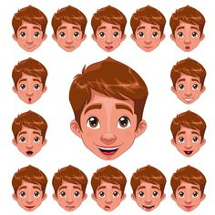 Buy Boy Expressions with Lip Sync by ddraw on GraphicRiver. Boy Expressions with lip sync. Funny cartoon and vector character. Folder contains: EPS file; Cartoon Boy, Cartoon Faces, Cartoon Drawings, Smile Drawing, Mouth Drawing, Boy Character, Character Design, Le Clown, Boy Face