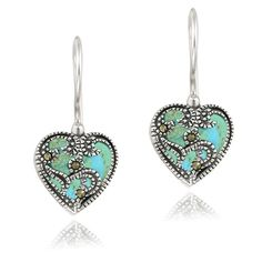Sterling Silver Synthetic Turquoise  #Jewelry