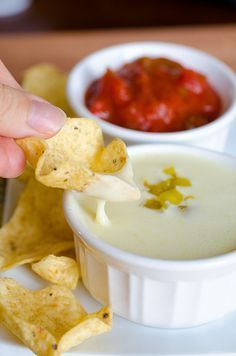 Queso Blanco Dip - Mexican Restaurant White Cheese Dip, uses white american cheese(not the mexican kind, try land o lakes), pickled jalepenos, green chiles, pinch of cumin