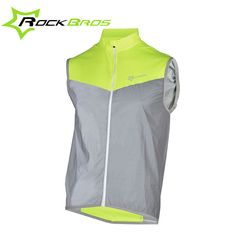 ROCKBROS Reflective Cycling Vests Sleeveless Windproof Cycling Jackets MTB  Road Bike Bicycle Jersey Top Cycle Clothing Wind Coat-in Cycling Vest from  Sports ... c2ef0c291