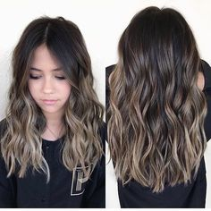 Balayage There's really no disadvantage to tossing by means of a spg curly hair movement Brown Blonde Hair, Light Brown Hair, Brunette Hair, Dark Hair, Bayalage Brunette, Brunette Color, Hair Color Balayage, Hair Highlights, Dark Brown Hair With Highlights Balayage