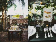Farm table centerpieces at Race & Religious | Flowers by poppyandmintfloral.com | Photo by http://arielrenaephoto.com | http://greenweddingshoes.com/magical-new-orleans-wedding-at-race-religious-sonia-cody-part-2/