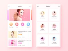 Beauty App designed by uiking. Connect with them on Dribbble; the global community for designers and creative professionals. Mobile App Design, Mobile Ui, Header Design, App Ui Design, Flat Design, Layout Design, Lipstick App, Iphone App Layout, Ecommerce App