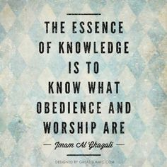 Islamic quotes about knowledge