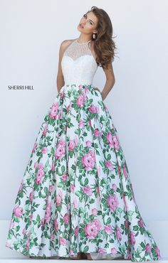 I like the top of the dress, the floral a little much though