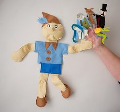 Custom Golf headcovers and puppets : Pinocchio - puppet story bag