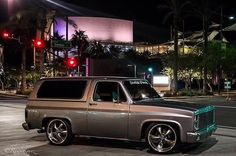 1982 C10 Blazer, custom drop & billet grill.