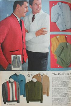 1961 Men's Sweaters- The center piece of the Ivy League Look