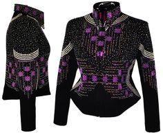 Image of Purple Poetry Jacket 1X/2X