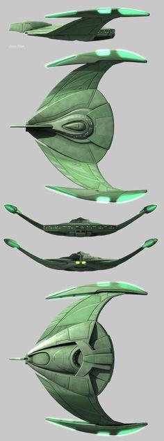 early Romulan warship - gotta say this ship design is gorgeous! #startrek #romulan
