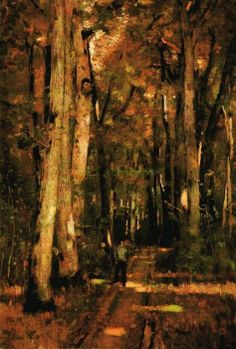 Paál László (1846-1879) - Út a fontainebleau-i erdőben