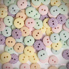 Botões Candy Colors com Poá