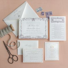 Lucky-Luxe-Couture-Correspondence-Marie-Antoinette-Wedding-Invitation-OSBP