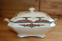 Crown  Ducal Orange Tree Tureen Good Heat Preservation Pottery & China