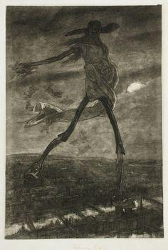 Félicien Rops, les Sataniques, Satan semant l'ivraie, 1882, Namur, Musée Félicien Rops