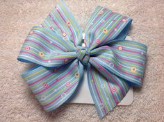 Pinwheel Hair Bow on Etsy, $3.00