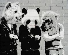 A Pack #panda #wolf #bear #graffiti