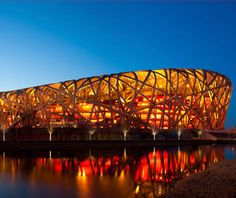 The world's largest steel structure—designed by Swiss architects Herzog and de Meuron and known affectionately as the Bird's Nest—premiered at the 2008 Beijing Olympics