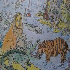 Jungle Safari Colouring In Poster