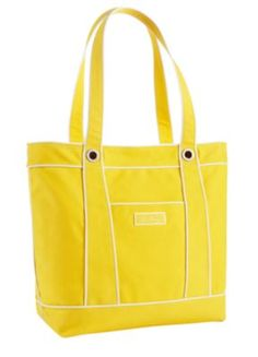 Love this preppy & handy canvas bag by Fort Wayne's own Vera Bradley! Yay for yellow!