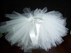 White Infant Tutu sz 36mos  1st Photo  by LollyBopBoutique on Etsy, $18.00